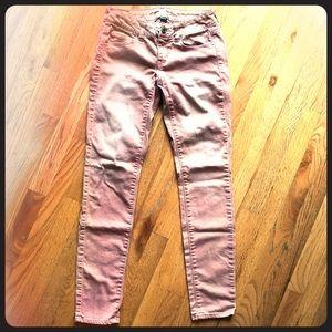 American Eagle 2 Blush Distressed Skinny Jeans